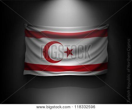waving flag Turkish Republic of Northern Cyprus