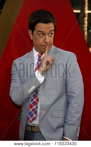 Ed Helms at the Los Angeles premiere of 'The Hangover Part II' held at the Grauman's Chinese Theatre in Hollywood, USA on May 19, 2011.