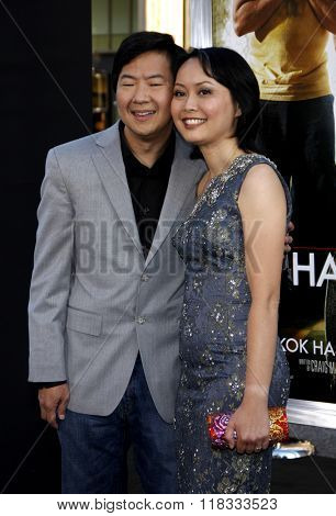 Ken Jeong and Tran Jeong at the Los Angeles premiere of 'The Hangover Part II' held at the Grauman's Chinese Theatre in Hollywood, USA on May 19, 2011.
