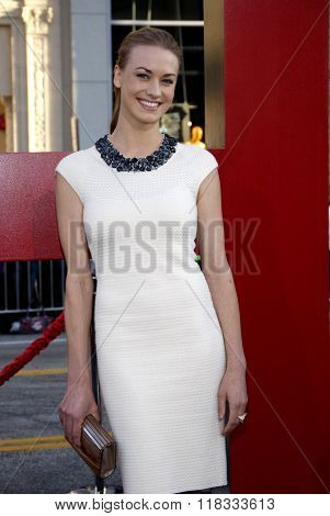 Yvonne Strahovski at the Los Angeles premiere of 'The Hangover Part II' held at the Grauman's Chinese Theatre in Hollywood, USA on May 19, 2011.
