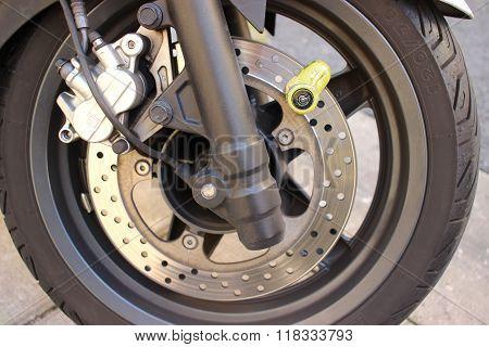 Motorbike Disc Brake Lock