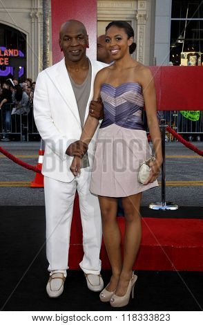 Mike Tyson and daughter Gina Tyson at the Los Angeles premiere of 'The Hangover Part II' held at the Grauman's Chinese Theatre in Hollywood, USA on May 19, 2011.
