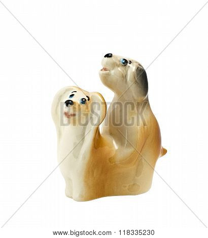 Two Porcelain Dogs