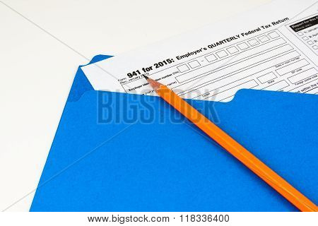Tax Form 941 on Light Background