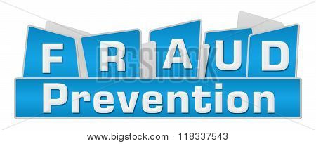Fraud Prevention Blue Squares On Top