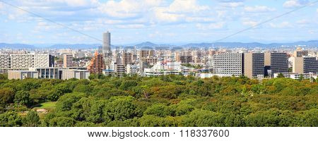 NAGOYA, JAPAN -SEPTEMBER 13: Nagoya is the largest city in the Ch%u016Bbu region of Japan. It is Japan's third-largest metropolitan area in Japan on September 13, 2014