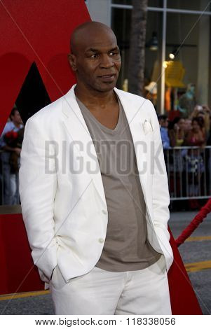 Mike Tyson at the Los Angeles Premiere of