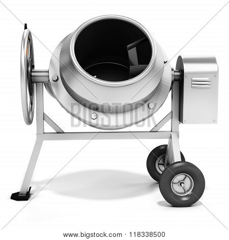 3D Detailed Cement Mixer