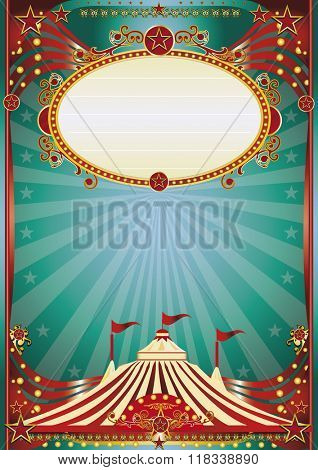 A beautiful circus poster for your entertainment