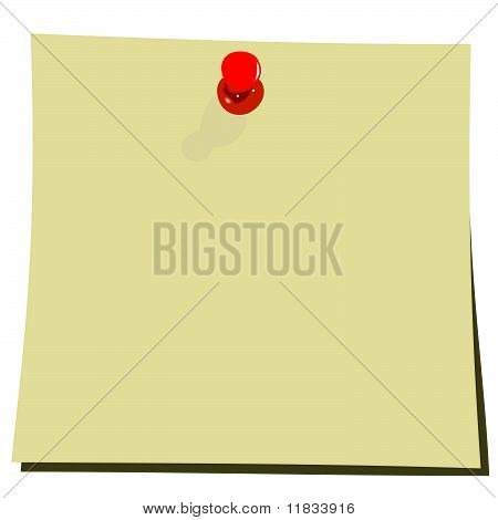 Realistic Illustration Of Yellow Note Pad