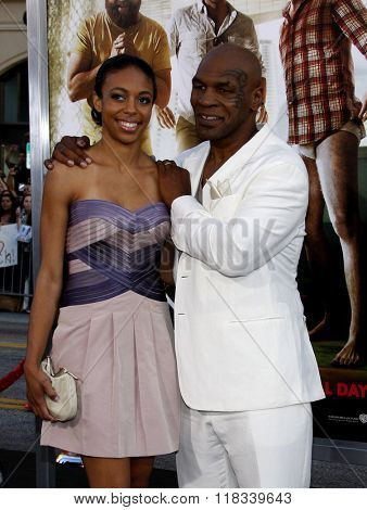 Mike Tyson and daughter Gina Tyson at the Los Angeles Premiere of