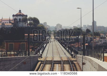 25 de Abril Bridge in Porto