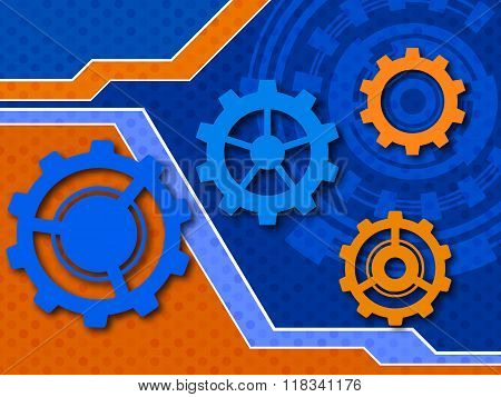 Abstract Engineering Future Technology Background. Vector Illustration