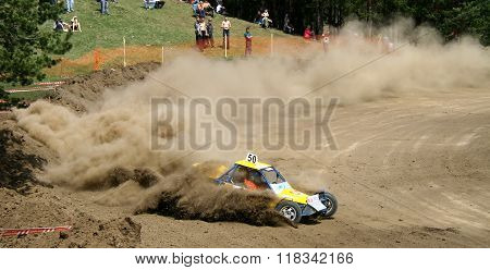 ZLATOUST, RUSSIA - MAY 15: Buggy (No. 50) of team Nizhniy Tagil during annual auto cross racing Championship of Chelyabinsk region on May 15, 2010 in Zlatoust, Chelyabinsk region, Russia.