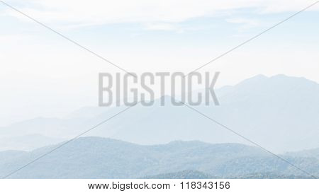 Fog on The mountain at Doi Inthanon, Chiang Mai Thailand