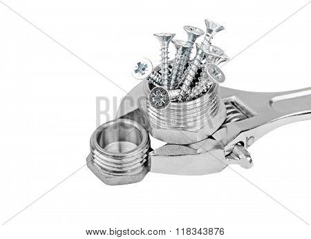 Wrench, Plumbing Fitting And Screw