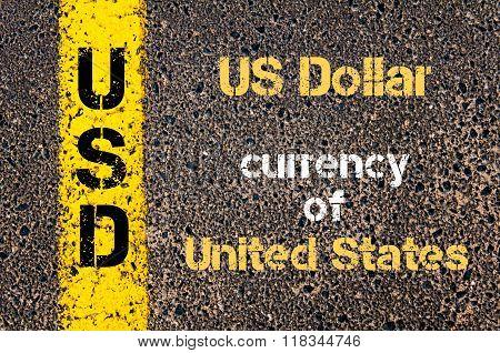Acronym Usd - Us Dollar, Currency Of United States