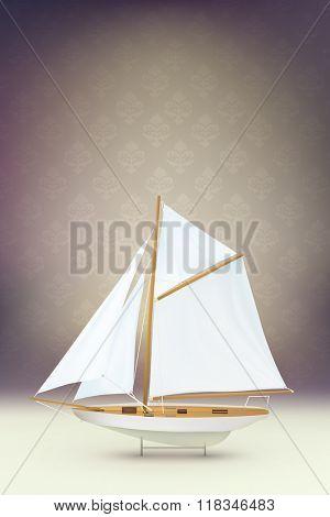 vector ship illustration