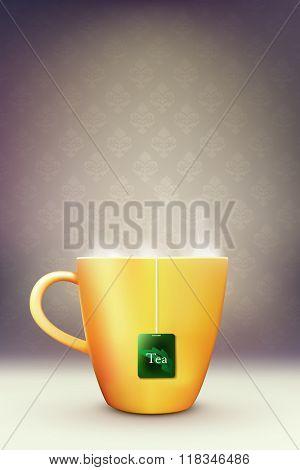 vector - cup of tea illustration