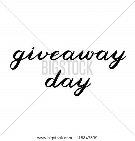 Giveaway day brush lettering. Cute handwriting.