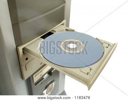 Dvd, Cd Disc In Open Drive