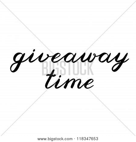 Giveaway time brush lettering. Cute handwriting.