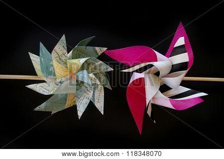Paper windmill flower pinwheel