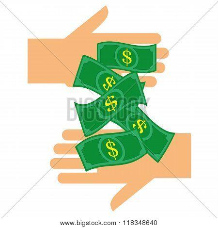 Handing Over Dollars