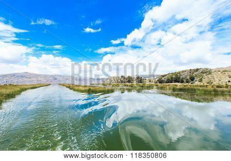 Titicaca lake near Puno, Peru