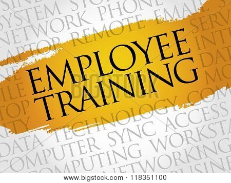 Employee Training Word Cloud
