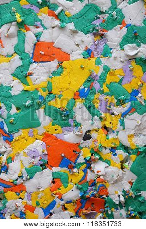 Mixed Color Pressed Polystyrene Panel