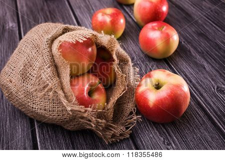 Apples Fall Out Of Sack
