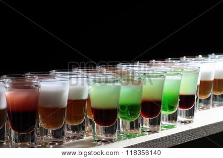 Row Of Tasty Shots
