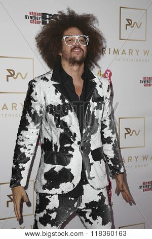 LOS ANGELES - FEB 14:  Redfoo at the Primary Wave 10th Annual Pre-GRAMMY Party at the London West Hollywood on February 14, 2016 in West Hollywood, CA