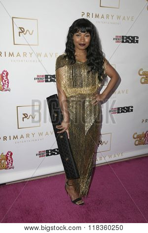 LOS ANGELES - FEB 14:  Shani James at the Primary Wave 10th Annual Pre-GRAMMY Party at the London West Hollywood on February 14, 2016 in West Hollywood, CA