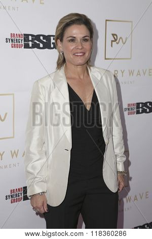 LOS ANGELES - FEB 14:  Cat Cora at the Primary Wave 10th Annual Pre-GRAMMY Party at the London West Hollywood on February 14, 2016 in West Hollywood, CA