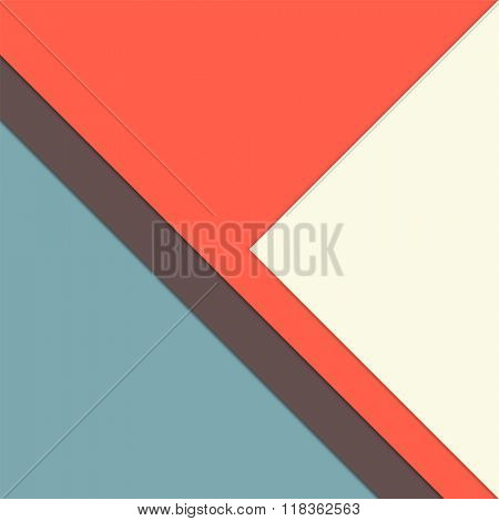 Minimalist background - abstract simple cover page with paper layers