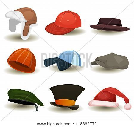 Caps, Top Hats And Other Headwear Set
