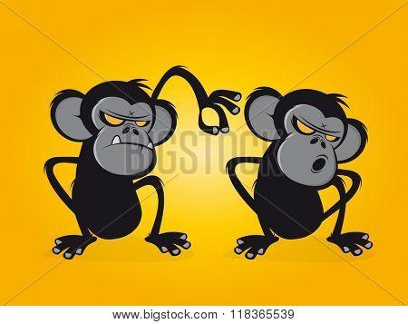chimp delouses his friend