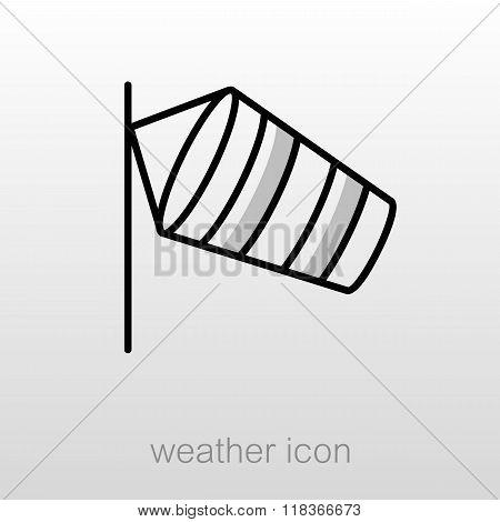 Windsocks Hanging Airport. Meteorology. Weather