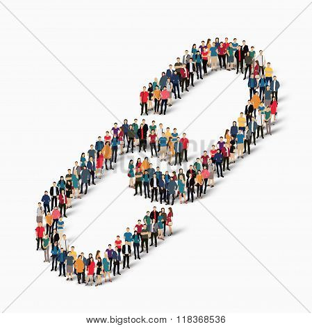 group  people  form  chain link