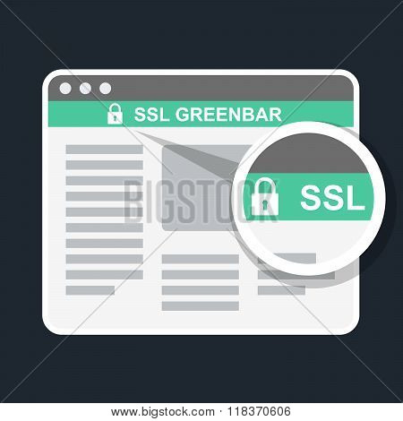 Secure Online Payment Icon - Ssl Green Bar In Browser