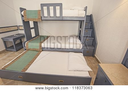 Bunk Bed Family Bedroom Concept Idea