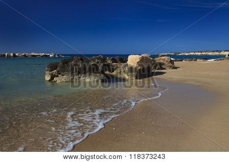 The Beautiful Beach Of Coral Bay, Cyprus