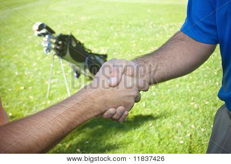 Golfers Shaking Hands