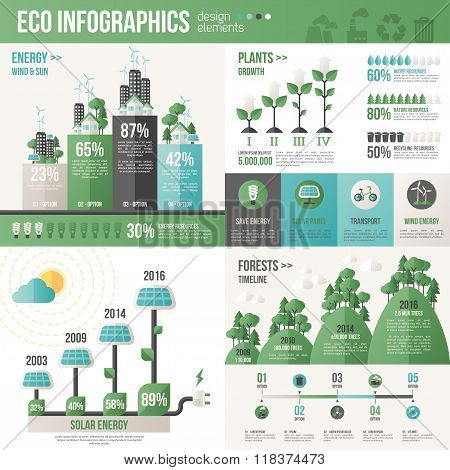 Creative concept of Eco Technology Infographic