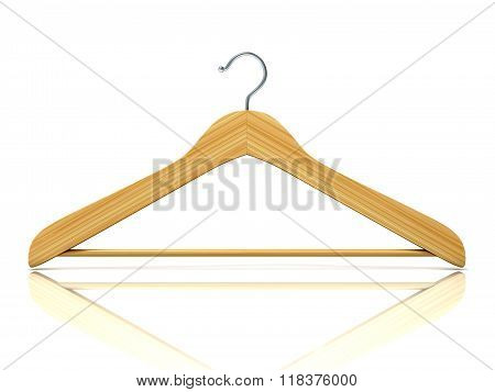 Wooden clothes hangers 3D Front view