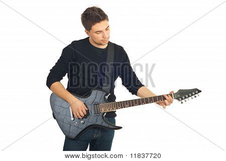 Casual Guy With Guitar