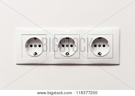 Triple Electrical Socket.