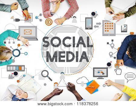 Social Media Social Networking Technology Innovation Concept